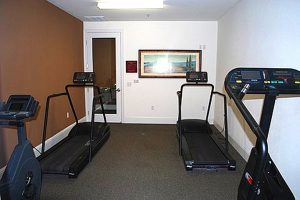 Fitness Room with multiple workout machines